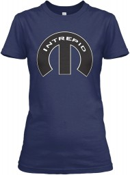Intrepid Mopar M Navy Gildan Women's Relaxed Tee $21.99