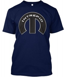 Intrepid Mopar M Navy Hanes Tagless Tee $21.99