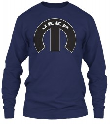 Jeep Mopar M Navy Gildan 6.1oz Long Sleeve Tee $25.99