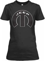 Jeep Mopar M Black Gildan Women's Relaxed Tee $21.99