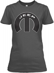 Jeep Mopar M Charcoal Gildan Women's Relaxed Tee $21.99