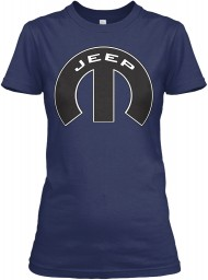 Jeep Mopar M Navy Gildan Women's Relaxed Tee $21.99