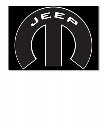 Jeep Mopar M Landscape Sticker $6.00