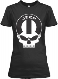 Jeep Mopar Skull Black Gildan Women's Relaxed Tee $21.99