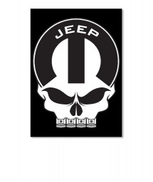 Jeep Mopar Skull Portrait Sticker $6.00