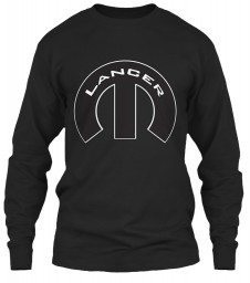 Lancer Mopar M Black Gildan 6.1oz Long Sleeve Tee $25.99