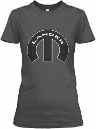 Lancer Mopar M Charcoal Gildan Women's Relaxed Tee $21.99