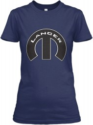 Lancer Mopar M Navy Gildan Women's Relaxed Tee $21.99