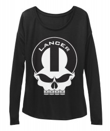 Lancer Mopar Skull Black  Women's  Flowy Long Sleeve Tee $43.99