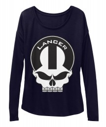 Lancer Mopar Skull Midnight  Women's  Flowy Long Sleeve Tee $43.99