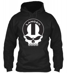 Lancer Mopar Skull Black Gildan 8oz Heavy Blend Hoodie $38.99