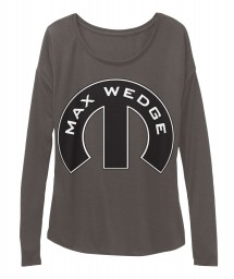 Max Wedge Mopar M Dark Grey Heather  Women's  Flowy Long Sleeve Tee $43.99