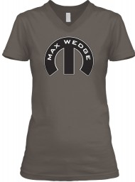 Max Wedge Mopar M Asphalt BELLA+CANVAS Women's V-Neck Tee $23.99
