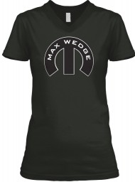 Max Wedge Mopar M Black BELLA+CANVAS Women's V-Neck Tee $23.99