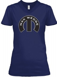 Max Wedge Mopar M Navy BELLA+CANVAS Women's V-Neck Tee $23.99