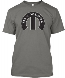 Max Wedge Mopar M Grey Canvas Triblend Tee $25.99