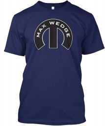 Max Wedge Mopar M Navy Canvas Triblend Tee $25.99