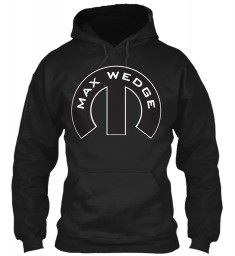 Max Wedge Mopar M Black Gildan 8oz Heavy Blend Hoodie $38.99