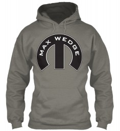 Max Wedge Mopar M Charcoal Gildan 8oz Heavy Blend Hoodie $38.99