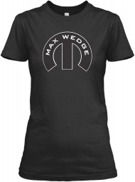 Max Wedge Mopar M Black Gildan Women's Relaxed Tee $21.99