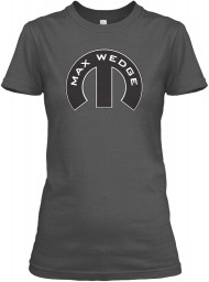 Max Wedge Mopar M Charcoal Gildan Women's Relaxed Tee $21.99