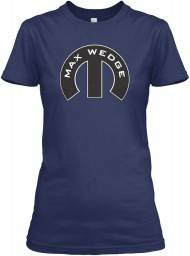 Max Wedge Mopar M Navy Gildan Women's Relaxed Tee $21.99