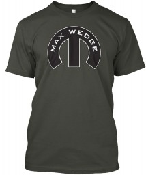 Max Wedge Mopar M Smoke Gray Hanes Tagless Tee $21.99