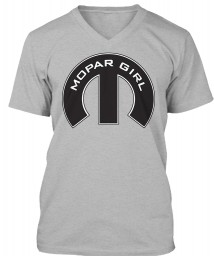 Mopar Girl Mopar M Athletic Heather BELLA+CANVAS Unisex Premium Jersey V-Neck $23.99