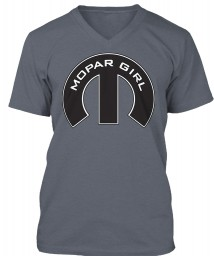Mopar Girl Mopar M Deep Heather BELLA+CANVAS Unisex Premium Jersey V-Neck $23.99