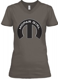 Mopar Girl Mopar M Asphalt BELLA+CANVAS Women's V-Neck Tee $23.99