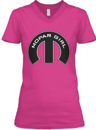 Mopar Girl Mopar M Berry BELLA+CANVAS Women's V-Neck Tee $23.99