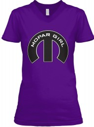 Mopar Girl Mopar M Team Purple BELLA+CANVAS Women's V-Neck Tee $23.99