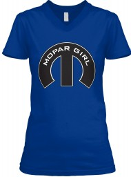 Mopar Girl Mopar M True Royal BELLA+CANVAS Women's V-Neck Tee $23.99