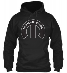 Mopar Girl Mopar M Black Gildan 8oz Heavy Blend Hoodie $38.99