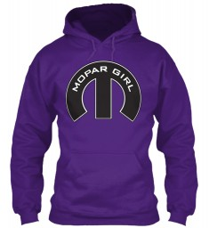 Mopar Girl Mopar M Purple Gildan 8oz Heavy Blend Hoodie $38.99