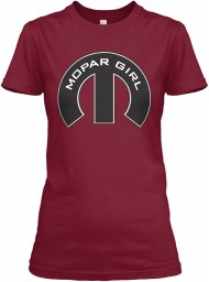 Mopar Girl Mopar M Cardinal Red Gildan Women's Relaxed Tee $21.99