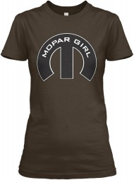 Mopar Girl Mopar M Dark Chocolate Gildan Women's Relaxed Tee $21.99