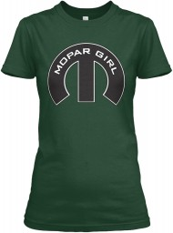 Mopar Girl Mopar M Forest Green Gildan Women's Relaxed Tee $21.99