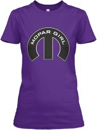 Mopar Girl Mopar M Purple Gildan Women's Relaxed Tee $21.99
