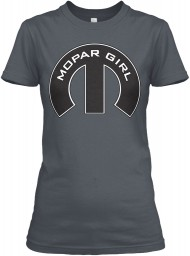 Mopar Girl Mopar M Heavy Metal Next Level Womens Boyfriend Tee $23.99