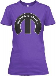 Mopar Girl Mopar M Purple Rush Next Level Womens Boyfriend Tee $23.99