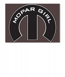 Mopar Girl Mopar M Black Sticker $6.00