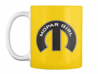 Mopar Girl Mopar M Lemon Yellow Teespring Mug $14.99