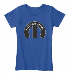 Mopar Girl Mopar M Deep Royal Women's Premium Tee $22.99