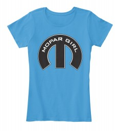 Mopar Girl Mopar M Heathered Bright Turquoise Women's Premium Tee $22.99