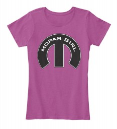 Mopar Girl Mopar M Heathered Pink Raspberry Women's Premium Tee $22.99