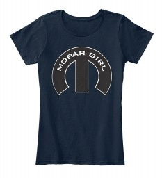 Mopar Girl Mopar M New Navy Women's Premium Tee $22.99