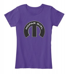 Mopar Girl Mopar M Purple Women's Premium Tee $22.99