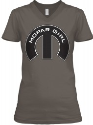 Mopar Girl V-Neck Asphalt BELLA+CANVAS Women's V-Neck Tee $23.99