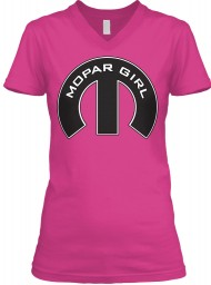 Mopar Girl V-Neck Berry BELLA+CANVAS Women's V-Neck Tee $23.99